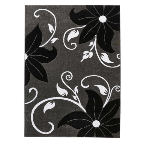 Think Rugs Verona OC15 Grey/Black