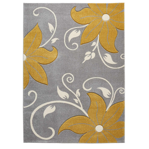Think Rugs Verona OC15 Grey/Yellow