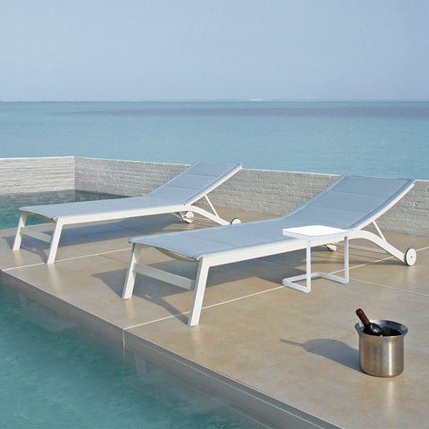 Verona Aluminium & Textilene Sun Lounger Set - - Garden and Conservatory by Cozy Bay available from Harley & Lola - 1