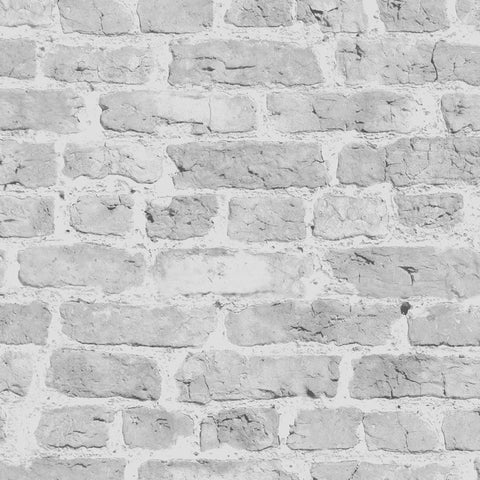 White Brick Wallpaper -Roll - 200gsm - Smooth Wallpaper - Wallpaper by Debbie McKeegan available from Harley & Lola - 1