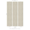 Sawn Wood Slats Wallpaper - Bone - - Wallpaper by Debbie McKeegan available from Harley & Lola - 3
