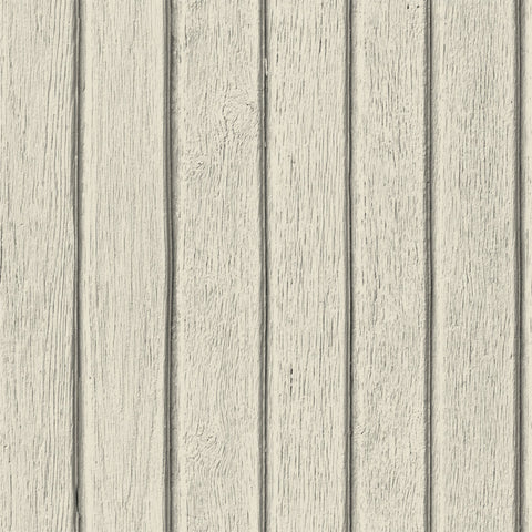 Sawn Wood Slats Wallpaper - Bone
