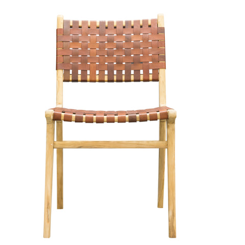 Phenomenal Hoxton Tan Woven Leather Dining Chair From Harley Lola Theyellowbook Wood Chair Design Ideas Theyellowbookinfo