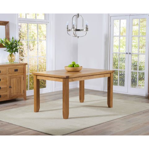 Mark Harris York 140cm Oak Dining Table