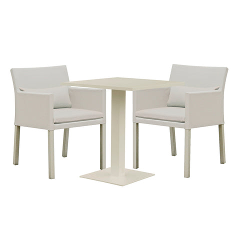 Cozy Bay Verona Aluminium & Fabric 2 Seater Dining Set