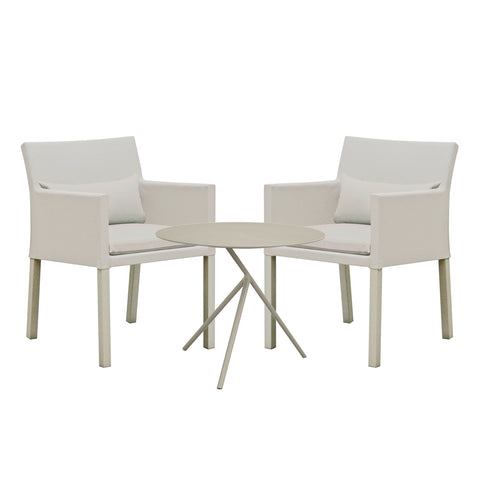 Cozy Bay Verona Aluminium & Fabric 2 Seater Tea for Two Set