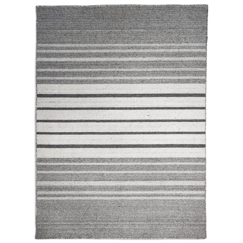Plantation Rug Co. Greyscale Grey/White Bars