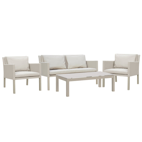 Cozy Bay Verona Aluminium & Fabric 4 Seater Lounge Set