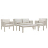 Verona Aluminium & Fabric 4 Seater Lounge Set -Light Taupe - Garden and Conservatory by Cozy Bay available from Harley & Lola - 2