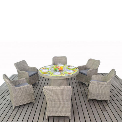 Port Royal Rural 6 Seat Round Dining Set