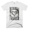 Two Down 'Grey Heart' T-Shirt (Mens)