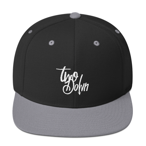 Two Down Embroidered Hat (Snapback)