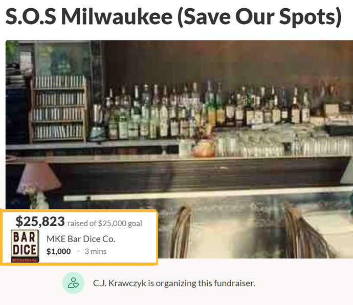 Donation To Save Our Spots (SOS) Milwaukee!