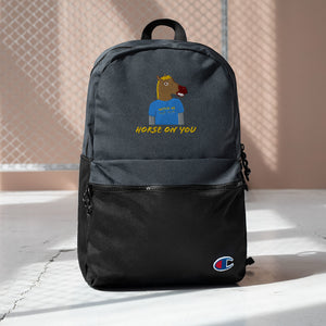 Horse On You Embroidered Champion Backpack