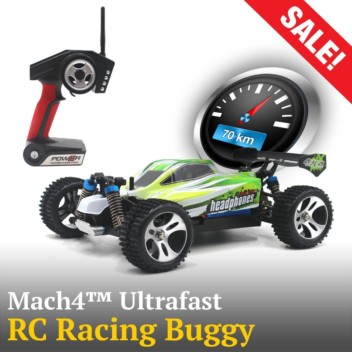 Mach4™ Ultrafast RC Racing Buggy