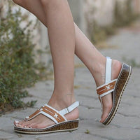 Summer Fashion Hollow Heel Wedge Carved Design Sandals🔥