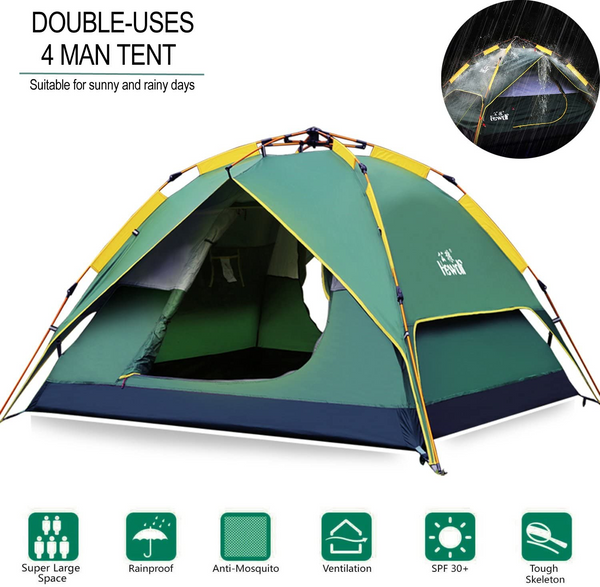 3 Seconds Open Waterproof Pop up Lightweight Easy up Tent