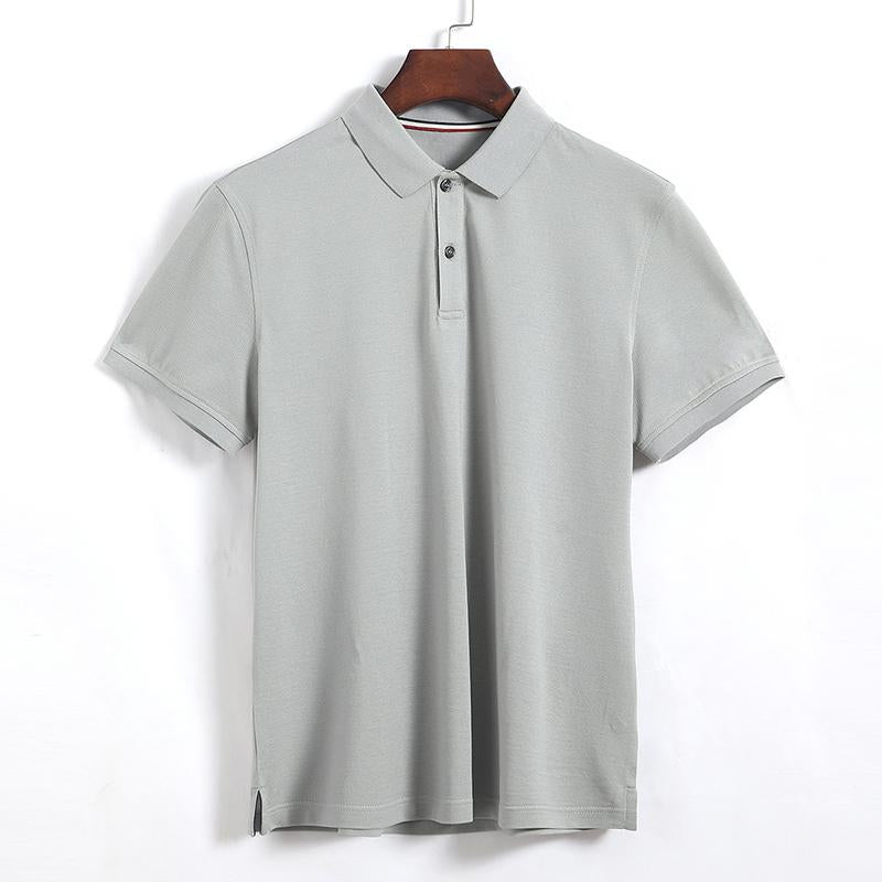 Italian Napoli style regular fit polo collar casual T-shirt for men