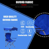 Premium Portable Camping Folding Lawn Bag Chairs with Canopy