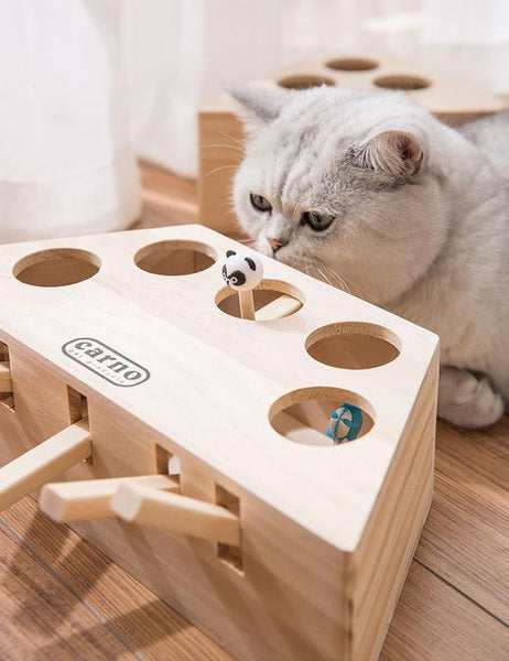 Wooden Cat Whack-a-mole Toy  (Free shipping)
