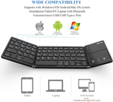Last Day Off 40%--Foldable Keyboard with Touchpad-Clever Keyboard