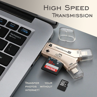 4 in 1 SD Card Reader For All Devices