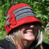 2-tone boiled wool hat with buckle