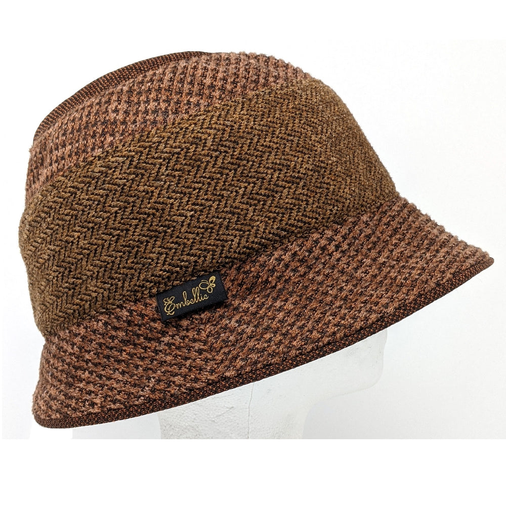 Chapeau cloche tweed