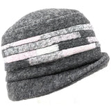 Patterned wool hat