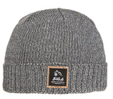 Beanie hat made of recycled material with cuff