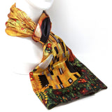 Couple reversible impressionist scarf