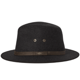 Wool safari hat with leather band