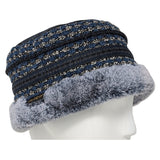 2-tone fascinator hat with synthetic fur