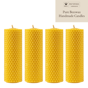 Pure Handmade Beeswax Pillar Candle 10cm x 3.5cm - Maters & Co
