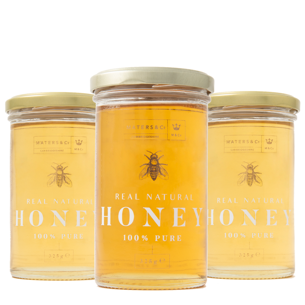 The Cambridgeshire Honey Collection (3x 325g Jars) - Maters & Co