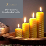 Pure Handmade Beeswax Candles Graduated Set of 4 - Maters & Co