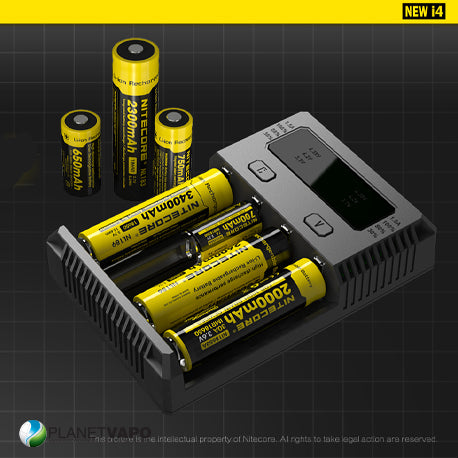 Chargeur Nitecore I4 New (4 accus)