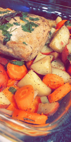 Liz M's Roasted Pork and Potatoes