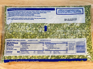 Split Green Peas - 2 lb Bag