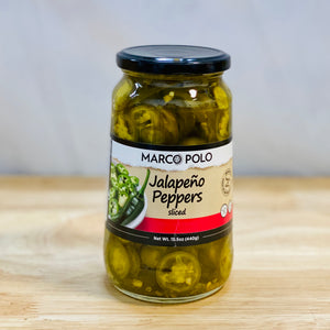 Jalapeno Peppers - Sliced - Jarred - 15.5 oz