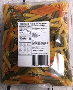 Penne Rigate - Vegetable - Imported - Elena (16 oz)