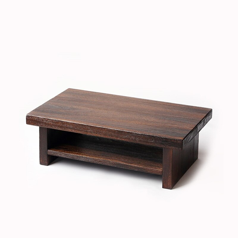 table basse japonaise marron fonce