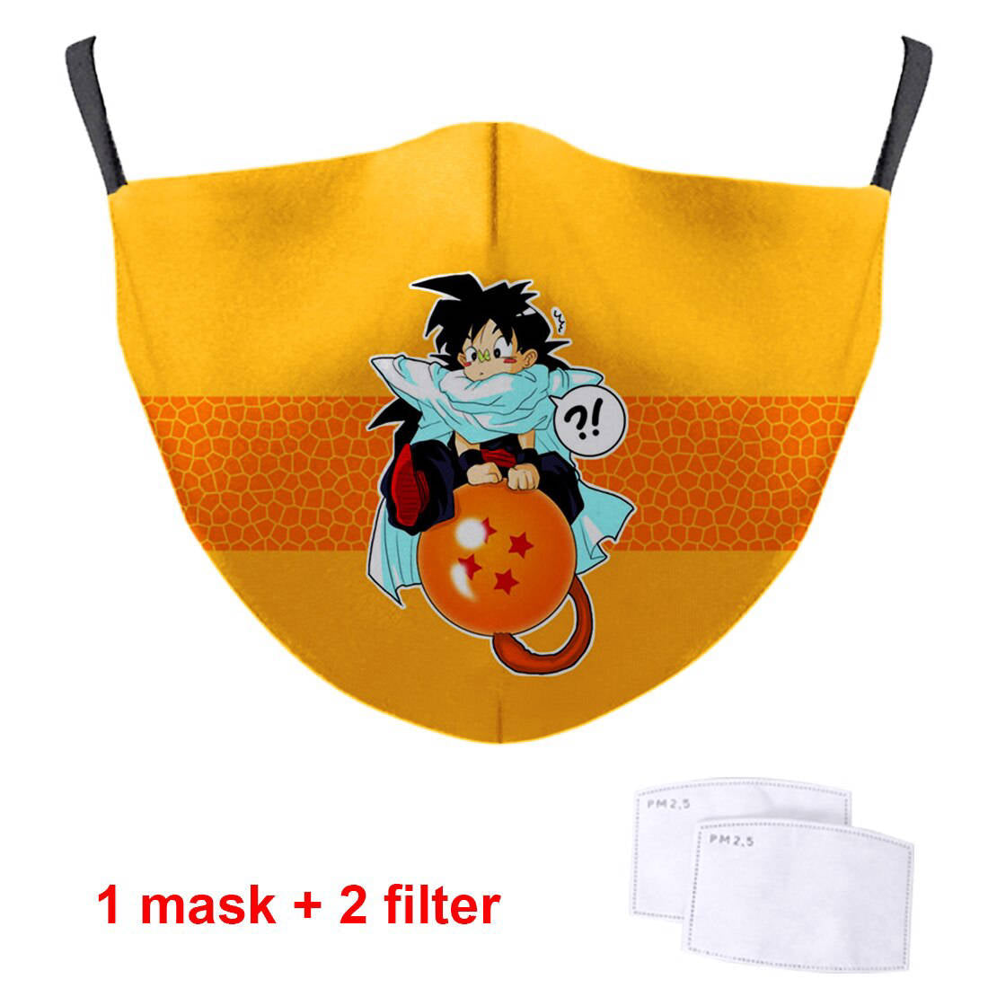 Anime Dragon Ball Cartoon 3D Masks Fashion Men Women Face Masks Breathable Streetwear Masks Anti Dust Masque With PM2.5 Filter
