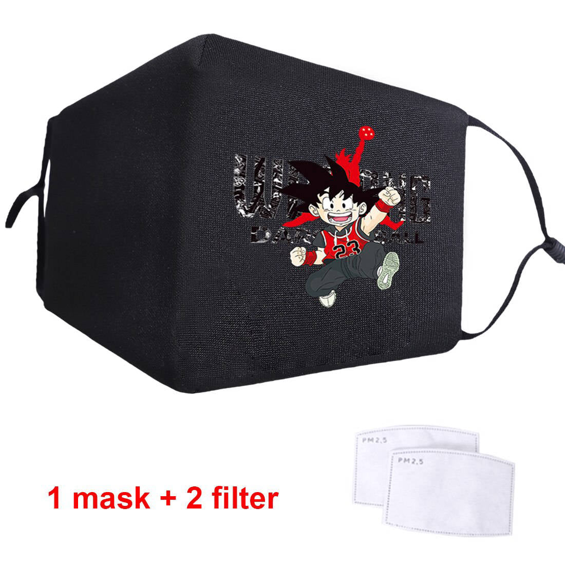 Dragon Ball Cartoon Character Image Wearing No. 23 Masks Fashion Anti-dust Breathable Masks PM2.5 FilterPM2.5 Filter Masque