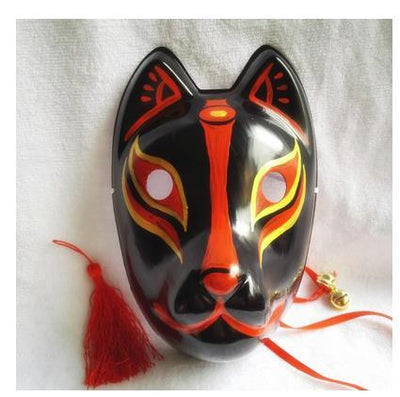 Japanese Fox Cosplay Mask Hand-Painted Full Face PVC Kitsune Demon Decorative Collection Christmas Party Halloween Masquera Mask