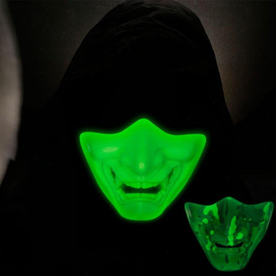 NEW Face Mask Tactical Hunting Airsoft Paintball War Games Safety Equipment Halloween Demon Mask Cosplay Luminous Fluorescence