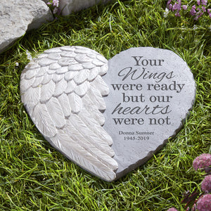 Personalized Wings Of Love Memorial Stone