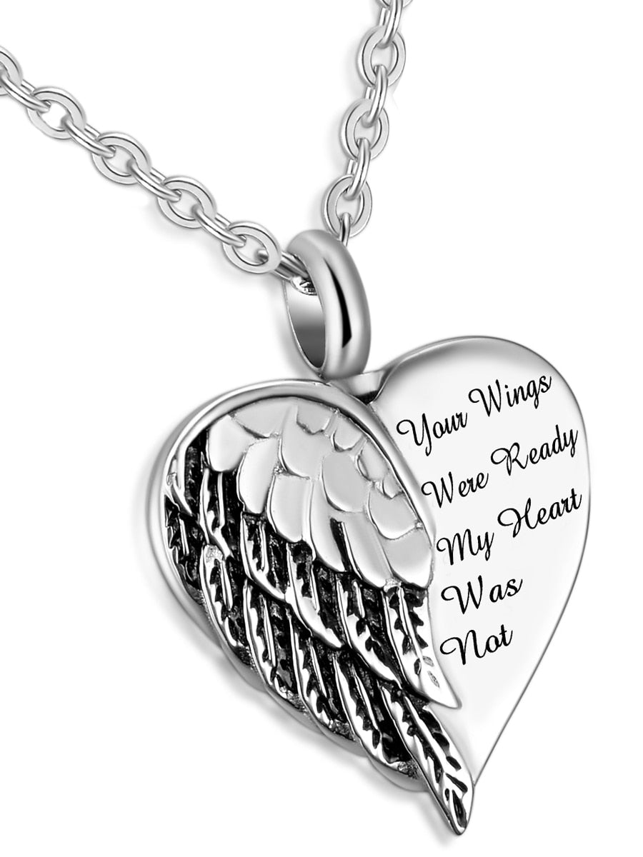 Memorial jewelry, Your wings were ready my heart was not