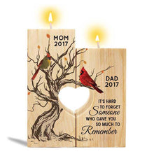 Load image into Gallery viewer, Cardinal Hard To Forget Memorial Personalized Candle Holder