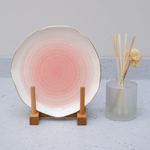Water Color 7inch Plate in Pink